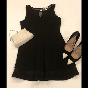 Black Monteau dress with Mesh